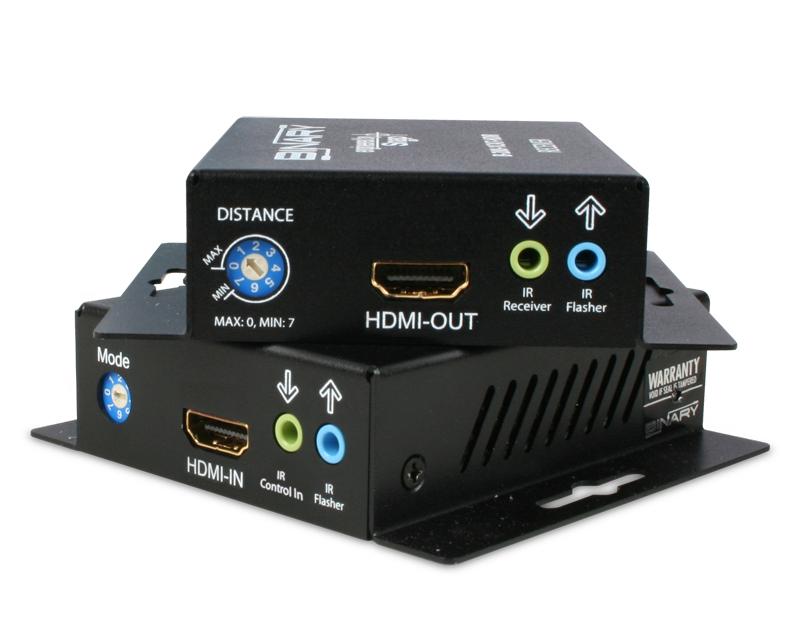 PLUS IR RECEIVER 130/' B-320-1CAT-HDIR BINARY SINGLE CAT 5E//6 HDMI EXTENDER
