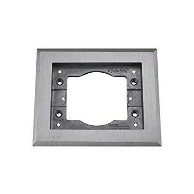 Wiremold Cover Plate Flange, Square, 1-Gang, Aluminum (pieza)