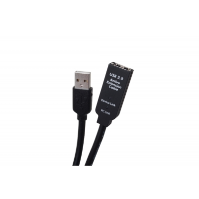 Binary USB 2.0 A Male to A Female Extender Cable Length 98.4 ft  (pieza) Negro