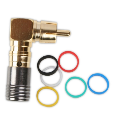 Binary RCA Male Right-Angle Compression Connector - Bag of 20, RG59 (pieza)