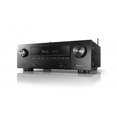 Denon AV Receiver 7.2 channel AVR, 80W per channel, HEOS wireless multi-room technology, Bluetooth, Advanced Video Processing with 4K Scaling for HDMI