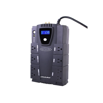 Episode  Surge Stand Alone 450W|825VA UPS with RJ45/RJ11 and RG6 - 8 Outlets (pieza)Negro