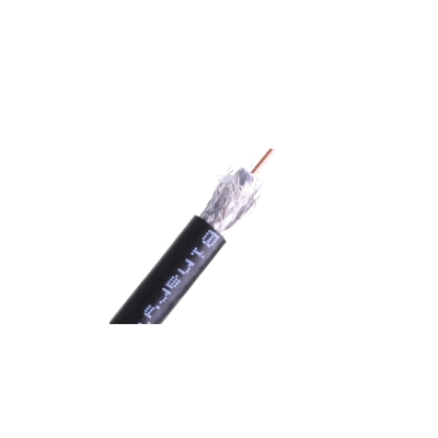 Wirepath RG6 CCS Coaxial Cable,Nest In Box 500 ft (pieza) Negro